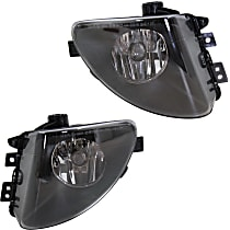 Fog Light Lens and Housing - Driver and Passenger Side, with Plastic Lens