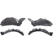 Fender Liner - Front, Driver and Passenger Side, Front Section, with M Package and Rear Section, Convertible