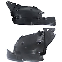 Replacement Fender Liner - Front, Driver and Passenger Side (Rear Section), Plastic, Sedan