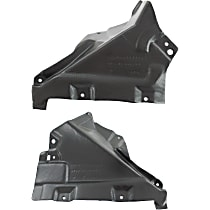 Fender Liner - Front, Driver and Passenger Side, Rear Section, Convertible/Coupe, Lower Reinforcement Panel