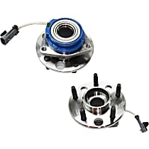 Front, Driver and Passenger Side Wheel Hub and Bearing Assembly, For FWD Models with 4-Wheel ABS