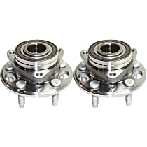 Front or Rear, Driver and Passenger Side Wheel Hub With Ball Bearing, ABS encoder and wheel studs - Set of 2