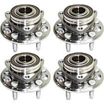 Front and Rear, Driver and Passenger Side Wheel Hub With Ball Bearing, ABS encoder and wheel studs - Set of 4