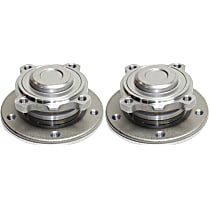 Front, Driver and Passenger Side Wheel Hub Ball Bearing Included - Set of 2