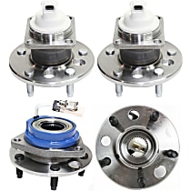 Front and Rear, Driver and Passenger Side Wheel Hub and Ball Bearing Assembly, For FWD Models with 4-Wheel ABS and 5-stud