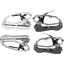 Front and Rear, Driver and Passenger Side Exterior Door Handle Carrier