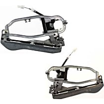 Front, Driver and Passenger Side Exterior Door Handle Carrier, With Base and Cable