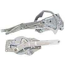 Front and Rear, Driver Side Power Window Regulator, Without Motor