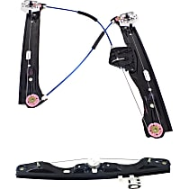 Window Regulator - Front and Rear, Passenger Side, Power without Motor
