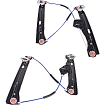 Window Regulator - Front, Driver and Passenger Side, Power without Motor