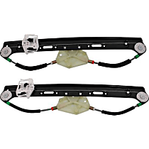Rear, Driver and Passenger Side Power Window Regulator, Without Motor