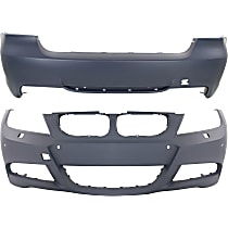 Front and Rear Bumper Cover, Primed - w/ M Pkg, Sedan (06-11)/Wagon (06-12)
