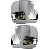 Front, Driver and Passenger Side Plastic Bumper End, Chrome
