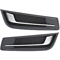 Driver and Passenger Side, Outer, Bumper Grille, Black