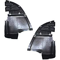 Front, Driver and Passenger Side Valance Lower Side Deflector, Primed