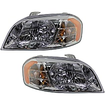 Driver and Passenger Side Halogen Headlight, With Bulb(s) - Sedan Models