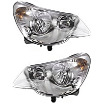 Driver and Passenger Side Halogen Headlight, With Bulb(s) - Convertible/Sedan, Type 1