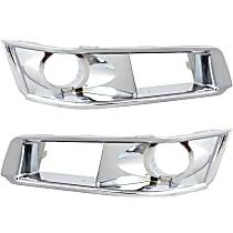 Fog Light Trim - Driver and Passenger Side, Chrome, Bezel, Except V Model