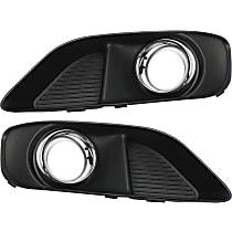 Fog Light Trim - Driver and Passenger Side, Black, with Chrome Trim, without Parking Aid Sensor, SRT-8 Model