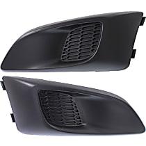Driver and Passenger Side Fog Light Cover, Black