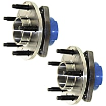 Front, Driver and Passenger Side Wheel Hub and Bearing Assembly, For Models with Non-ABS