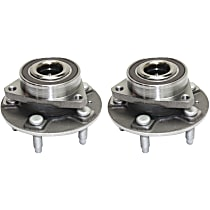 Wheel Hub With Ball Bearing - Set of 2 Front or Rear, Driver and Passenger Side Front, Driver and Passenger Side