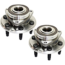 Front or Rear, Driver and Passenger Side Wheel Hub With Bearing - Set of 2
