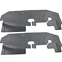 2008-2013 Cadillac Cts Undercar Shield; Fits 3.0L//3.6L Engine Models; Made Of Pp Plastic Partslink GM1228127C