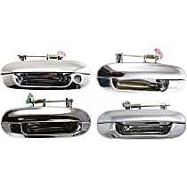 Front and Rear, Driver and Passenger Side Exterior Door Handle, Chrome