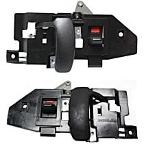 Front, Driver and Passenger Side Interior Door Handle, Black