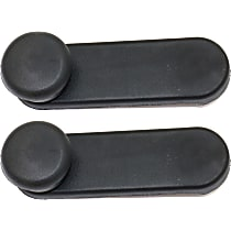 Window Crank - Front or Rear, Driver and Passenger Side, Black, Direct Fit, Set of 2