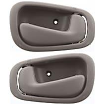 Front and Rear, Driver and Passenger Side Interior Door Handle, Beige, w/ Manual Door Locks