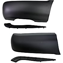 Replacement Quarter Panel Extension - SET-REPC550901 - Driver and Passenger Side, Primed, Direct Fit