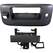Tailgate Handle Lever and Bezel - Textured Black, With Key Hole and Camera Hole