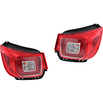 Driver and Passenger Side, Outer Tail Light, With bulb(s) - Clear & Red Lens, LED, LTZ Model, CAPA Certified