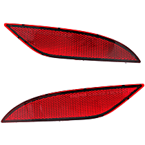 CAPA Certified Rear, Driver and Passenger Side Bumper Reflector