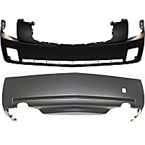 Front and Rear Bumper Cover, Primed - 3.6L Eng