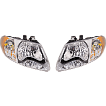 Driver and Passenger Side Headlight, With bulb(s) - w/o Turn Signal Light Bulb, For Models with 113 inch Wheelbase