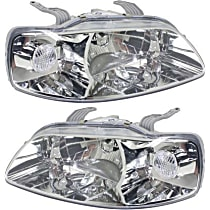 Driver and Passenger Side Halogen Headlight, Without Bulb(s) - Hatchback/Sedan Models