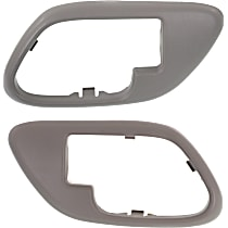 Door Handle Trim, Gray
