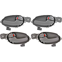 Front and Rear, Driver and Passenger Side Interior Door Handle, Gray