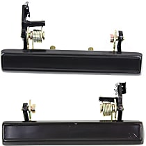Exterior Door Handle - Front, Driver and Passenger Side, Smooth Black, without Key Hole