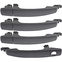 Exterior Door Handle - Front and Rear, Driver and Passenger Side, Textured Black