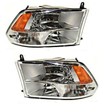 Driver and Passenger Side Halogen Headlight, With Bulb(s) - Models with Quad Lamps