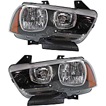 Headlights - Driver and Passenger Side, Pair, Halogen, With Bulb(s), CAPA Certified