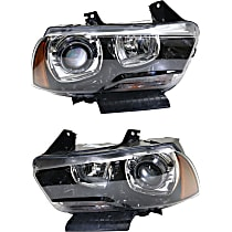 Headlights - Driver and Passenger Side, Pair, HID/Xenon, With Bulb(s)