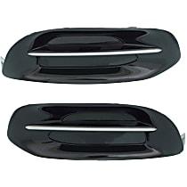 Regular Item Driver and Passenger Side Fog Light Cover, Black