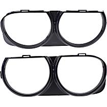 Headlight Bezel - Black, Set of 2