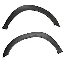Front, Driver and Passenger Side Fender Flares, Textured Black
