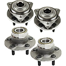 Front and Rear, Driver and Passenger Side Wheel Hub and Bearing Assembly For FWD